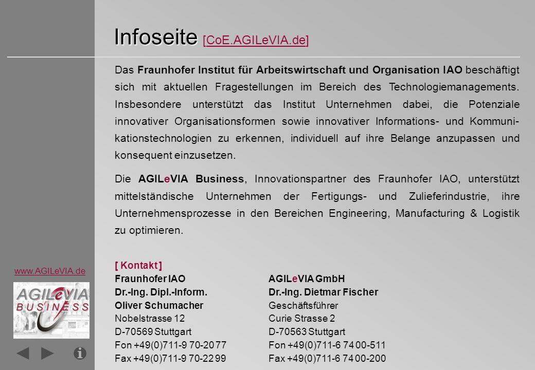 Infoseite [CoE.AGILeVIA.de]